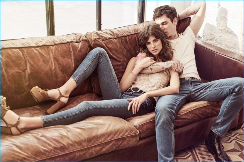 Model Cole Mohr by Emre Dogru for Koton Jeans' Spring Summer 2016 Campaign. Styled by Basak & Defne Kocabiyikoglu. Hair by Ali Yilanci. Make-up by Melis Ilkkilic.