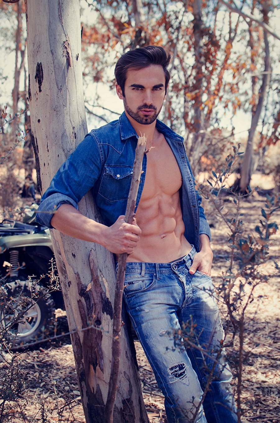 """From series entitled """"The Heatwave"""" we got personal trainer and fitness model in outdoors portrait George Hadjinicodemou shot by Stavros Christodoulou"""