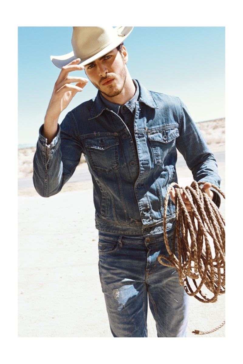 Gui Fedrizzi is the new image of Guess SS 2016 new campaing