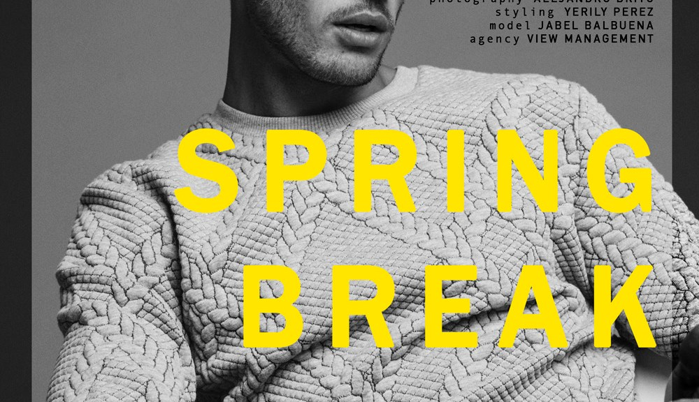 "Jabel Balbuena poses for a new story named ""Spring Break"" pictured by Alejandro Brito and styled by Yerily Perez."