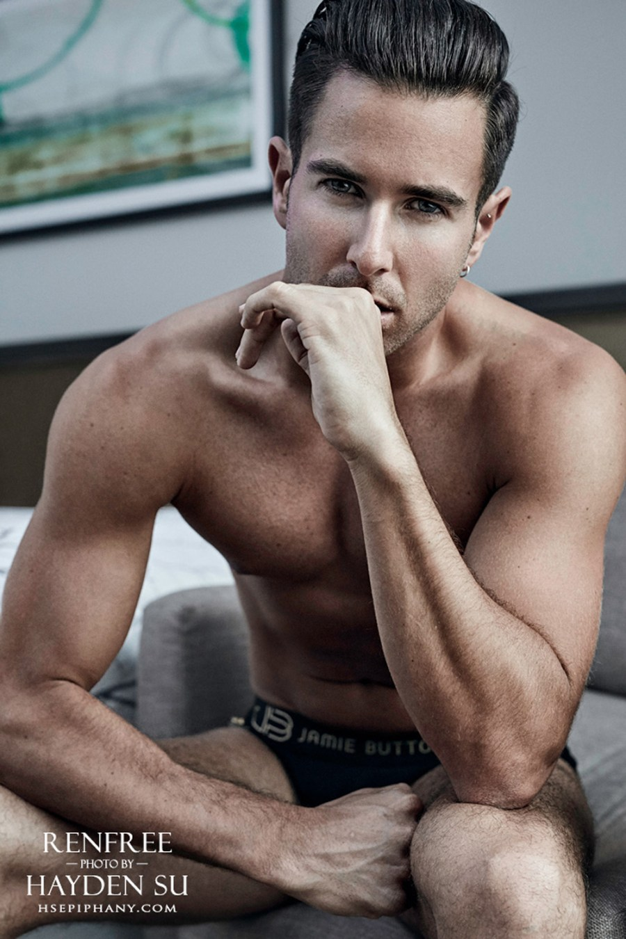 Holy Moly! have you seen this pictorial? We are enchanted by the beauty of British Dancer/Choreographer Aaron Renfree photographed by Hayden Su for Fashionably Male in an exclusive. Aaron unfolds a natural way in front of the camera lens.