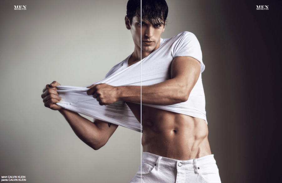 He's a now good looking guy, he's Alexandr Pohzan photographed by Brent Chua for Men Moments.