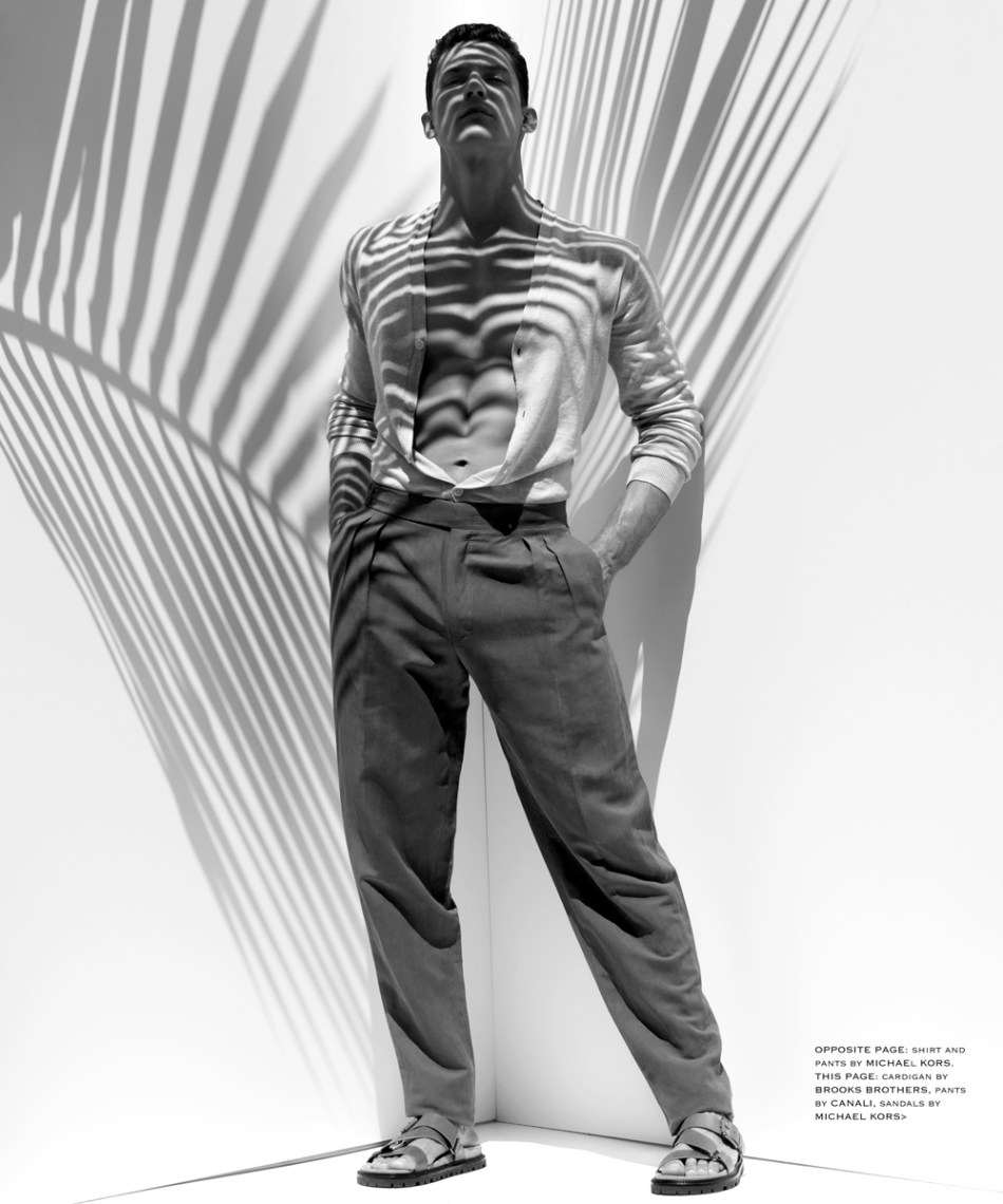 Venice Magazine shows off new fashion editorial portrayed by Karl Simone featuring model Bart Grzybowski from Front Managementstyled by Jenesee Utley.