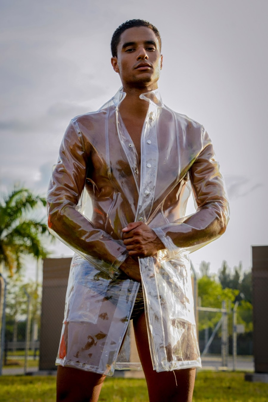 Excited to present this stunning material by photographer Ivan Sanchez exclusive for Fashionably Male, featuring male model Derick Johnson represented by Elite Models Miami all clothing is provided by Etnos with some galant garments looking so good to Derick modeling in aesthetics movements.