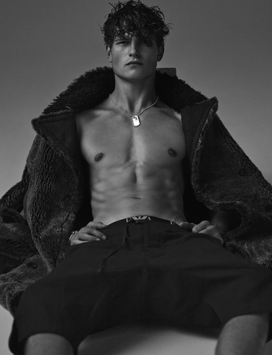 Top model John Todd for NUMERO China, shot by photographer Hong Jang Hyun. Splendid edition and lighting