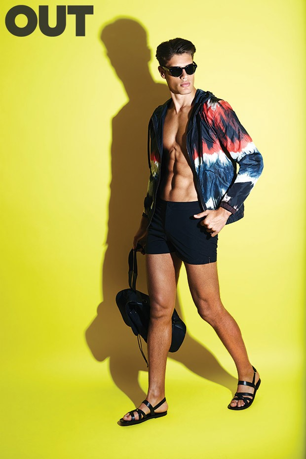 Cool For The Summer: Lucas Loyala photographed by David Michael Burns and styled by Michael Cook for Out Magazine