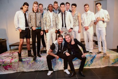 Mandatory Credit: Photo by Aurora Rose/REX/Shutterstock (5754854m) Models with Artistic and Andy Hilfiger Artistix with Andy Hilfiger Presentation, Spring Summer 2017, New York Fashion Week: Men's, USA - 11 Jul 2016