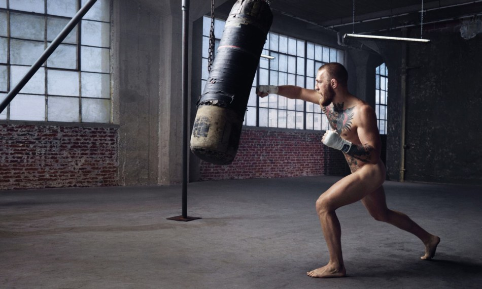 ESPN celebrates athletes at the top of their physical game with its annual 'Body Issue' August 2016 with Irish UFC MMA Fighter Conor McGregor onw of many athletes modeling naked for this coming issue.