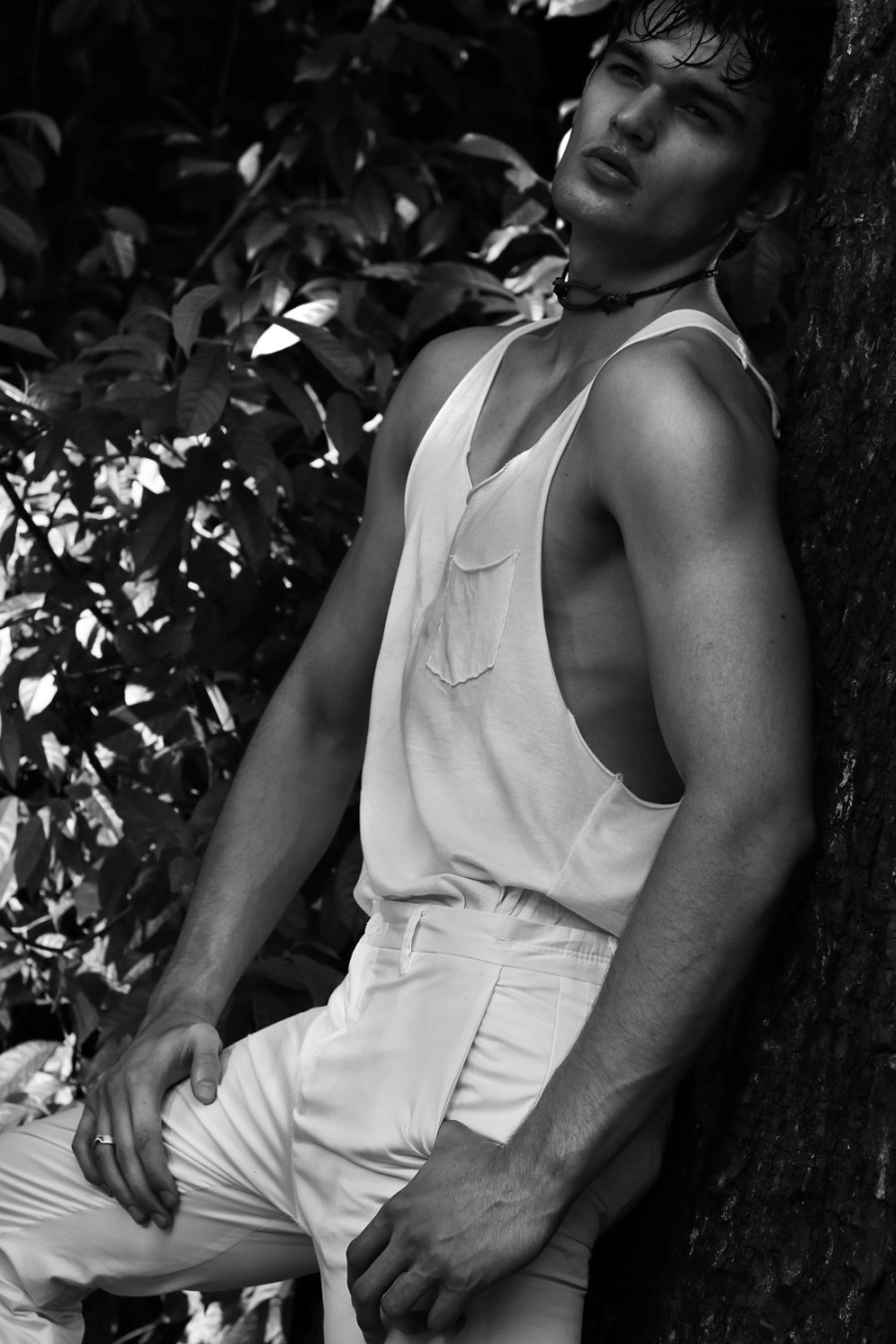 Check on this: a Brazilian new face 22yo from São Paolo signed by Way Models now working in Singapore signed by Ava Management and he's melting every lens when he stands out in front of it, modeling in black and white captured by Daniel Benjamin.
