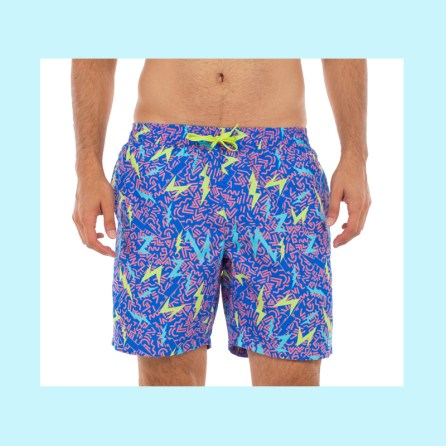Gone are the days of super long swim shorts, so go for something like these short swim trunks from TipsyElves.com.
