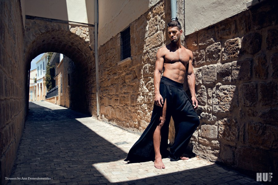 """Photographer Andreas Constantinou gives away to HUF Magazine a new Cyprus theme editorial with model Charis Ioannou in """"Another Man""""."""