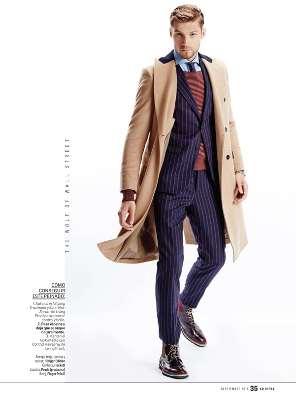 Supporting on iconic characters movie to show you the perfect formula for a look for this season, from 7:00AM to Eve's dinner party. GQ Style Mexico connecting with Pablo Valero and model Mikus Lasmanis