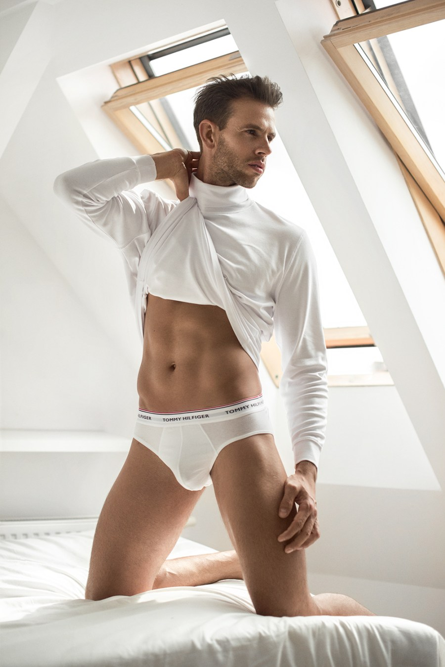 """The following presented here titled """"Attic Room"""" features model Piotr Z. from United For Models. And this is the first time of photographer Dominik Więcek a young fashion photographer from Poland - Katowice."""