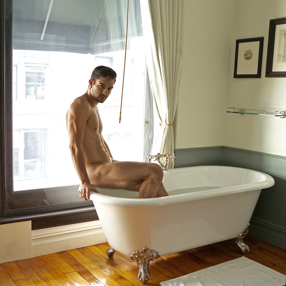When you're hottie AF you just do this: Richard Biglia by KJ Heath. In so many ways, Richard is a beautiful person and good guy, we can see through his eyes, he's full of life, attitude and in good health, as we can see he's a Brazilian dancer/model/actor based in the Big Apple. Exposing hot sexy -almost bare- guys doesn't mean being sex boy toys, but when your attitude and looks reflects sexiness and you attracted so much sex-appeal, the only answer is take off your cloths and pose around. KJ Heath easily has a entire clever eye to direct a newbie to be exposed with no shame at all.