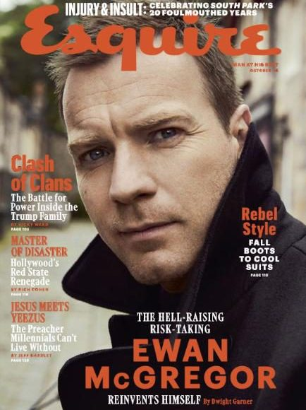 US Esquire October 2016: Ewan McGregor by Dusan Reljin