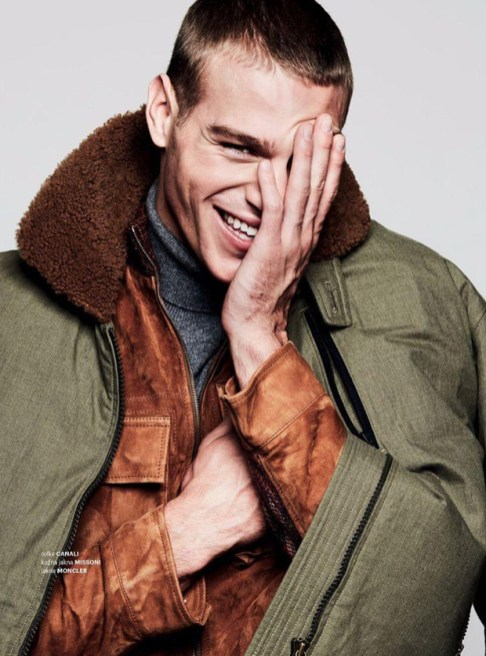 Matthew Noszka exclusively flew to Milan exclusively to work with photographer Ivan Genasi and fashion stylist Ivan Rasic to fronts new editorial for Esquire Serbia December 2016.