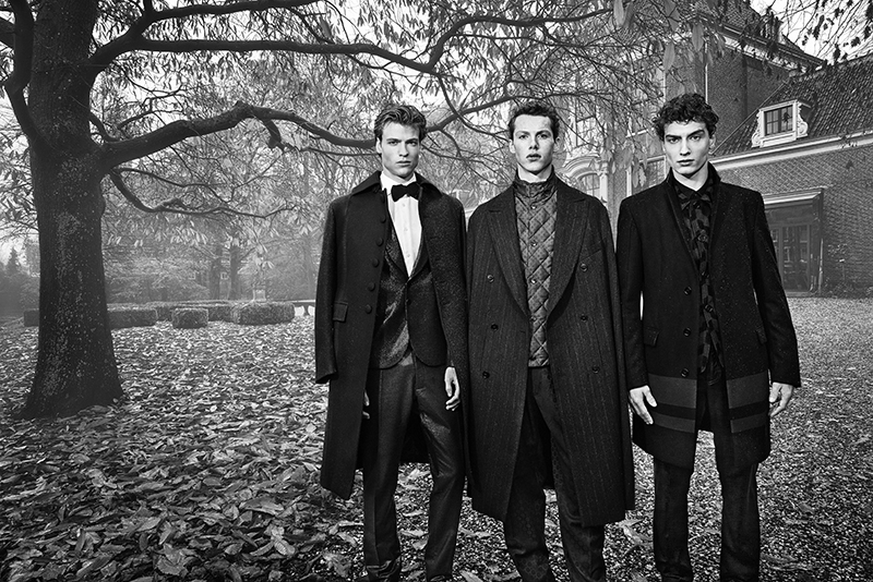Hereby I wanted to share with you the new editorial I styled for Winq Magazine.The editorial named ''YOU CAN SIT WITH US'' showcases rising models Karsten from Elite Milano, Sahin and Simon from Republic Men in a fashion story a brotherhood at the mansion. The boys are wearing Dolce & Gabbana, Ermenegildo Zegna, Paul Smith, Hermes, Prada, La Perla, River Island and Jonathan Christopher Homme to name a few.
