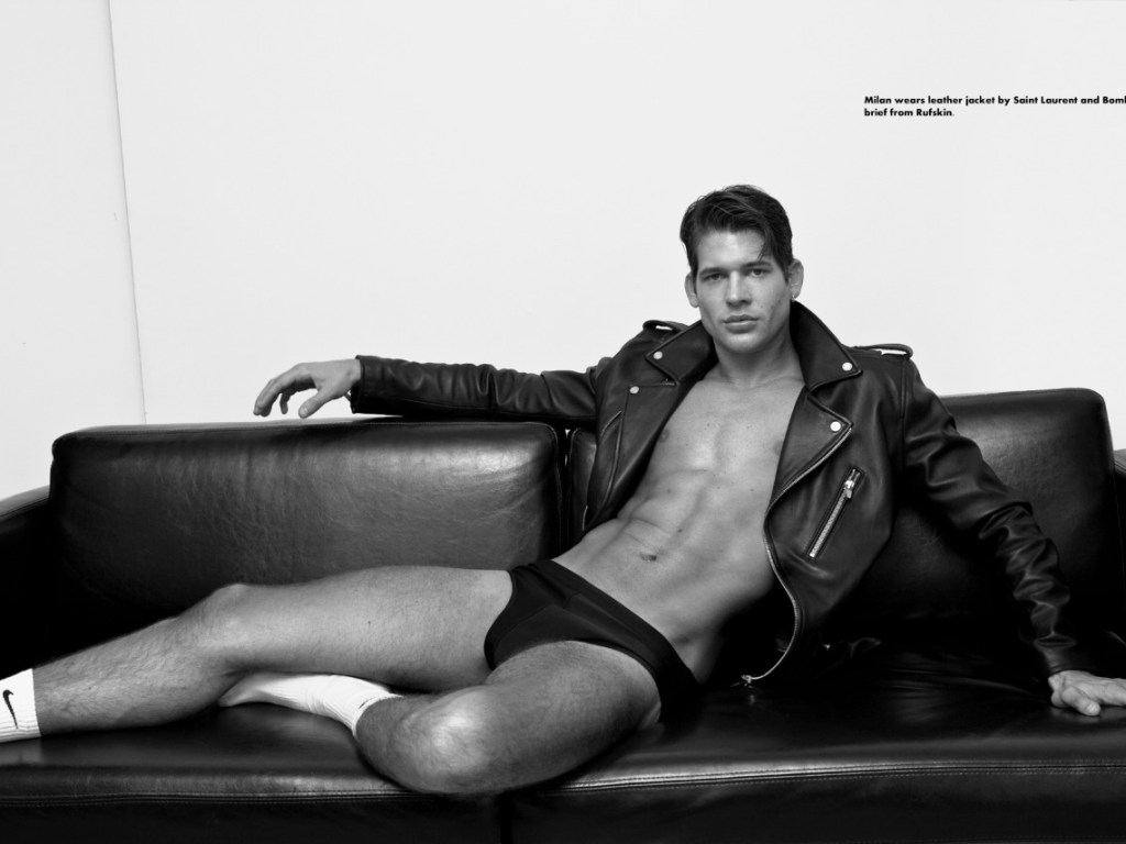 Milan Petruska (NEXT Miami, MAJOR Milan) photographed by Baldovino Barani for FACTORY Body Vol2, with RUFSKIN clothing.