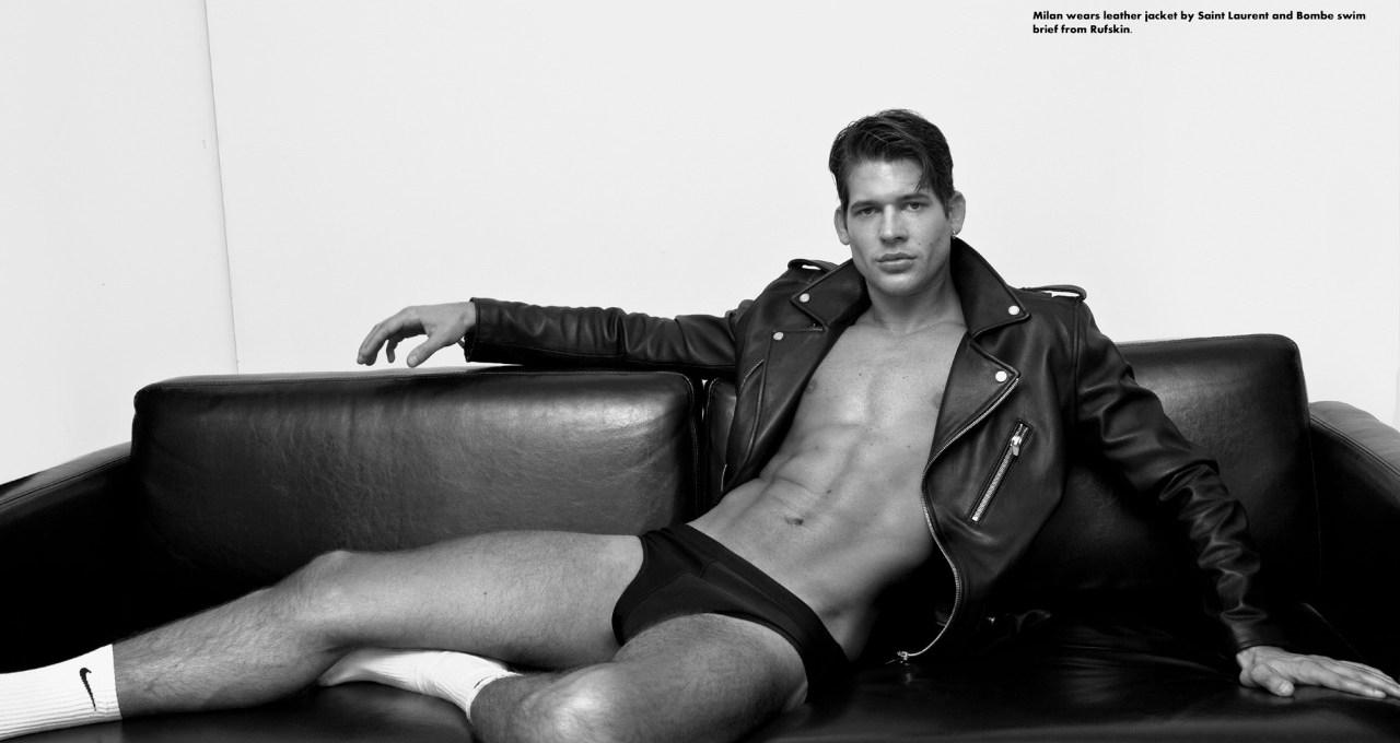 Milan Petruska (NEXT Miami, MAJOR Milan) photographed by Baldovino Barani for FACTORY Body Vol2, with RUFSKIN clothing.