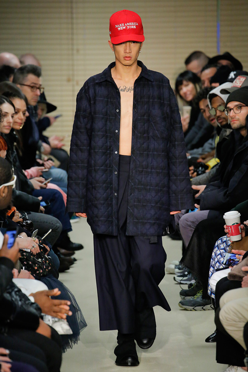 Dao-Yi Chow and Maxwell Osborne presented their Fall/Winter 2017 menswear collection for Public School during New York Fashion Week.