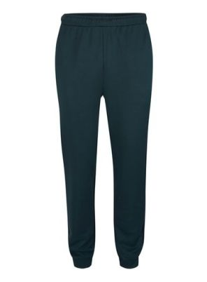 Mens Green Panelled Track Joggers