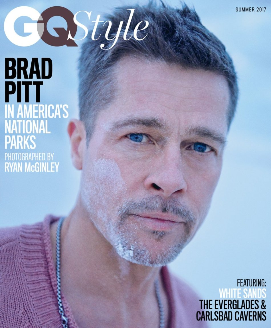 US GQ Style Summer 2017 : Brad Pitt by Ryan McGinley2