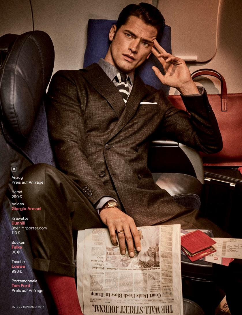 """GQ Germany September 2017: Sean O'Pry & Ollie Edwards by Giampaolo Sgura """"Business Class""""3"""