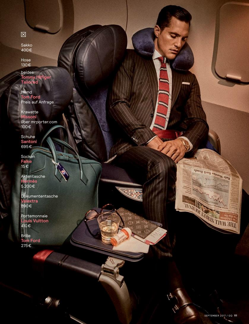 """GQ Germany September 2017: Sean O'Pry & Ollie Edwards by Giampaolo Sgura """"Business Class""""4"""