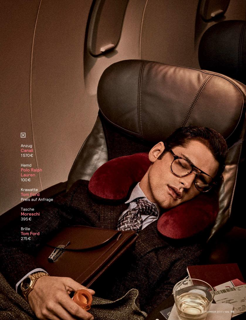 """GQ Germany September 2017: Sean O'Pry & Ollie Edwards by Giampaolo Sgura """"Business Class""""7"""