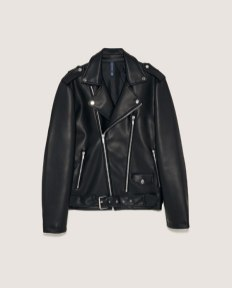 Faux leather biker jacket by ZARA $101.19 USD