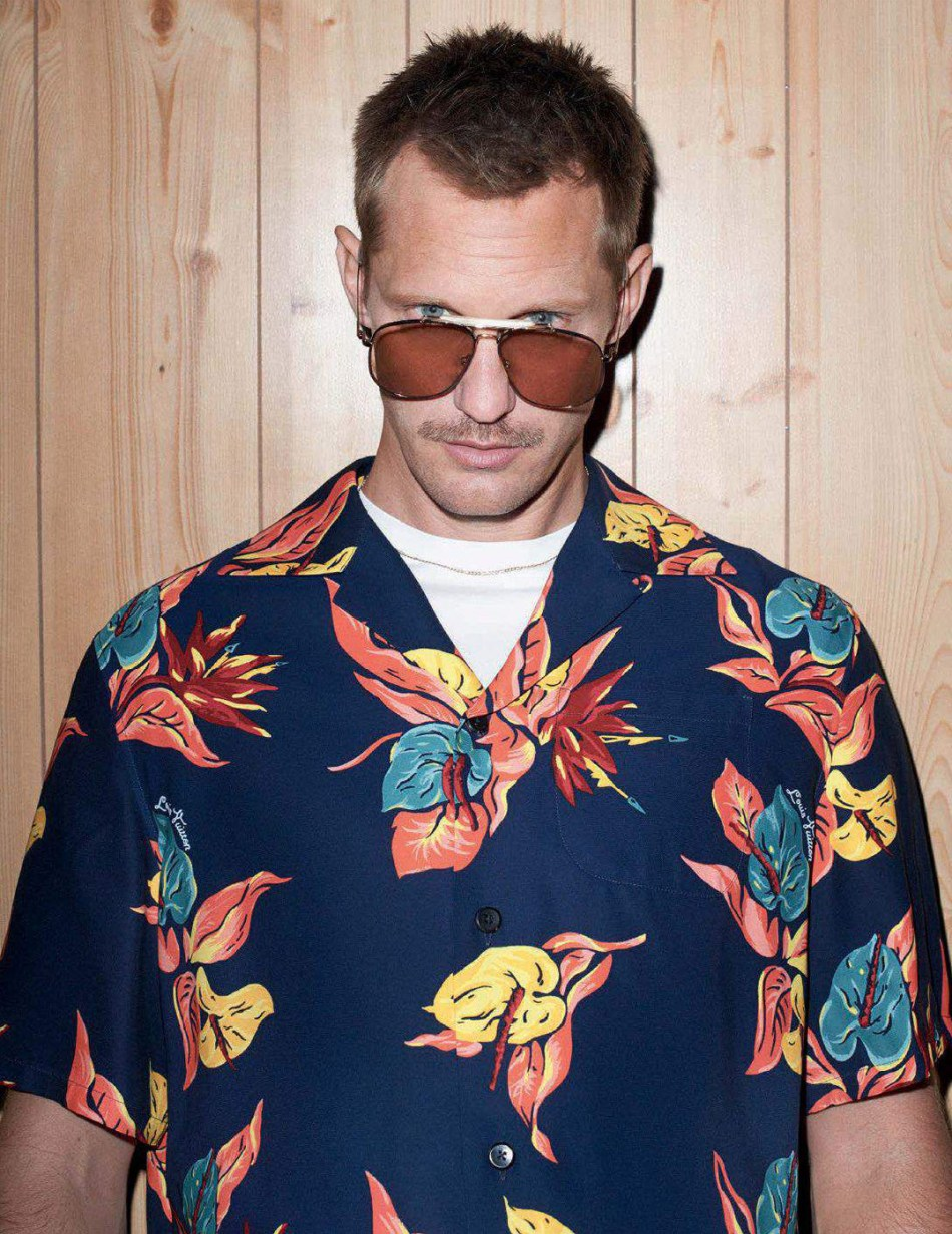 Alexander Skarsgård by Terry Richardson for GQ Style Germany AW172