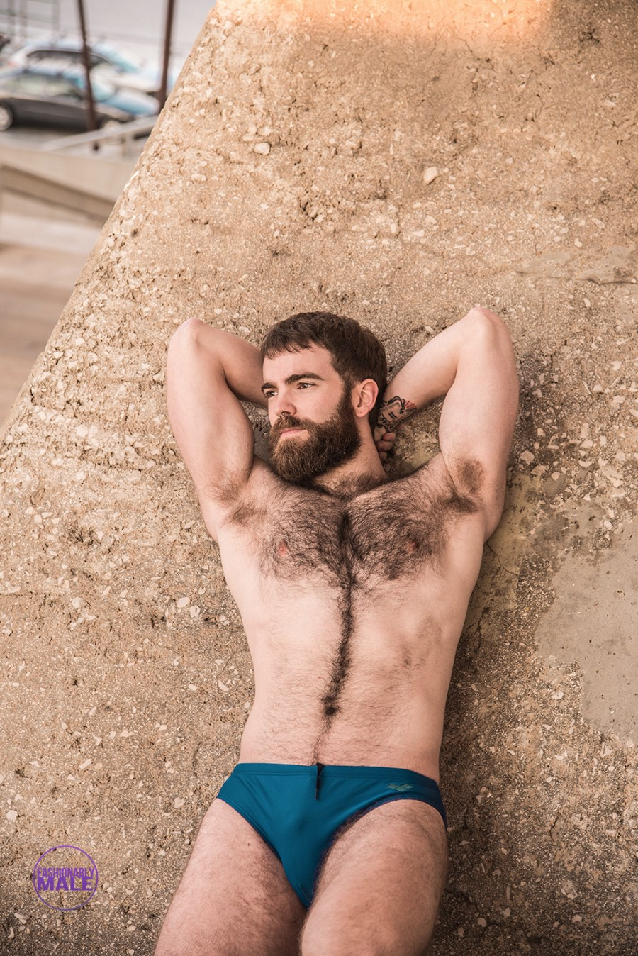 Meet husky masculine artist Beñat Olea in pictures of Bruno Martinez. Direct from Basque Country.