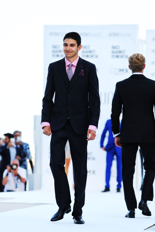 F1 Drivers on the Amber Lounge Runway at the 2018 Monaco Grand Prix