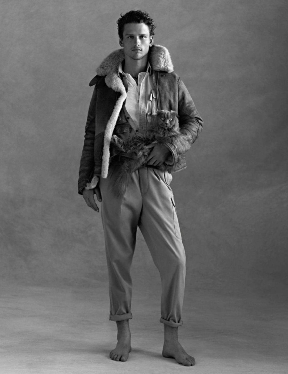 Top Model Simons Nessman for Vogue Hommes A/W 2018