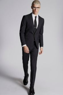 Micro Check Wool London Suit
