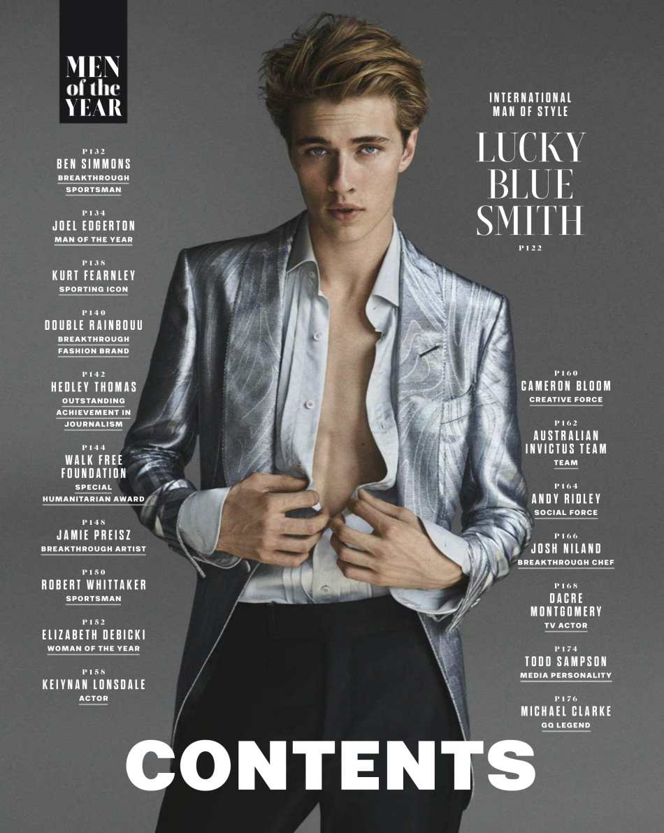 GQ Australia December 2018 Lucky Blue Smith by Carter Smith
