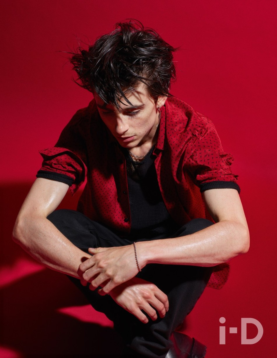 Timothée Chalamet by Mario Sorrenti for i-D Winter 2018