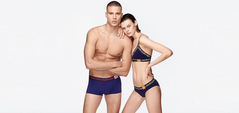 Matthew Noszka & Cara Taylor for Calvin Klein 1981 BOLD Campaign