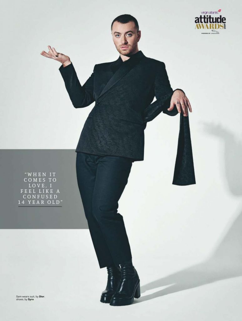 Sam Smith Cover for Attitude Magazine