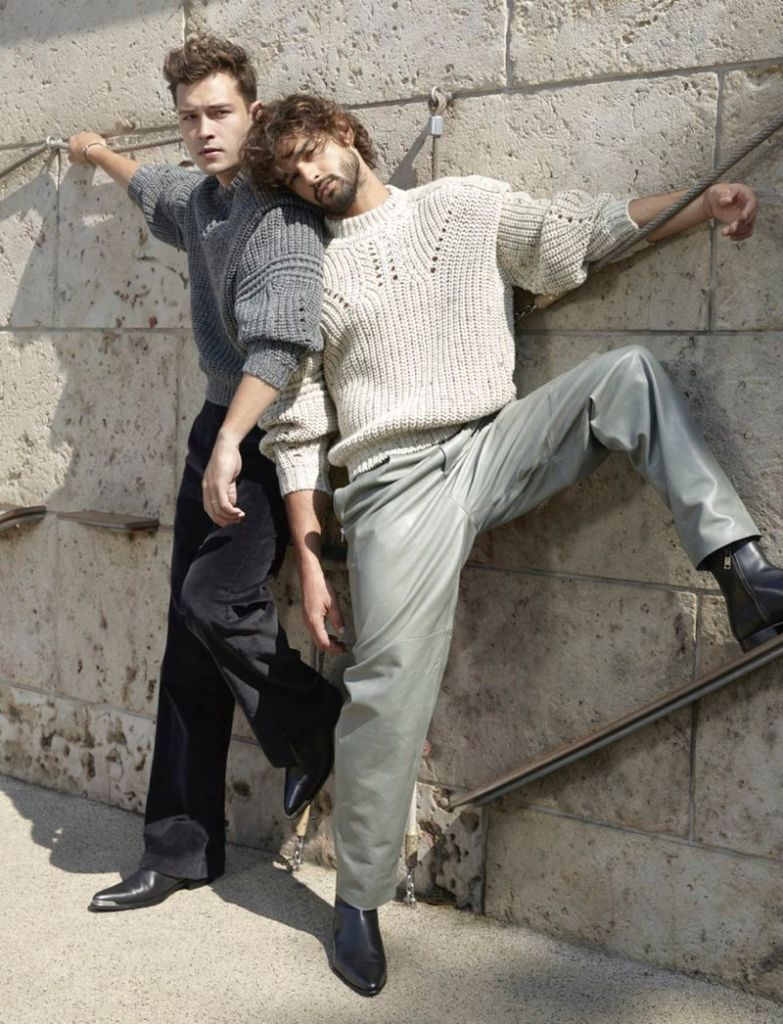 Francisco Lachowski & Marlon Teixeira on the cover story of L'Officiel Hommes Italia