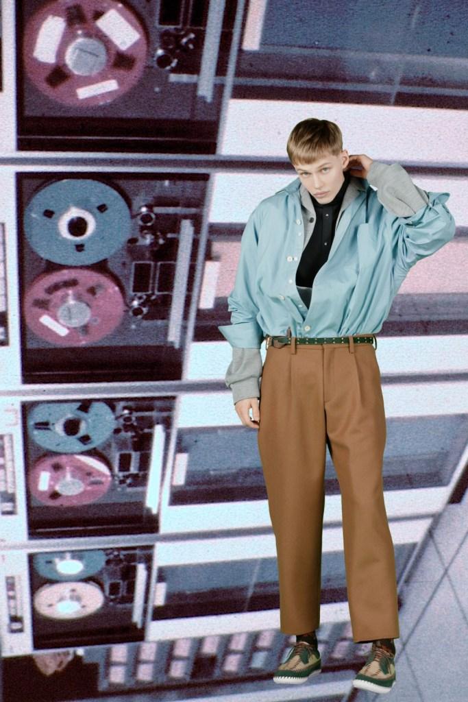 KOLOR Men's Fall 2020 office outfit for men.