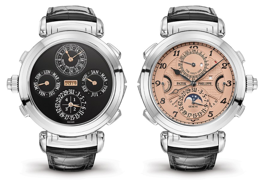 The two faces of the new most expensive watch in the world, Patek Philippe's Grandmaster Chime.