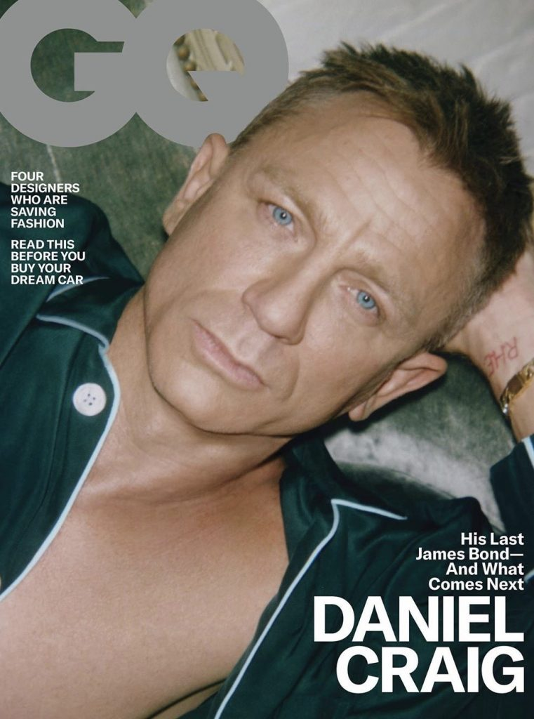 Daniel Craig covers the April 2020 issue of GQ. Click here to subscribe to GQ.  Pajamas, $600, by Olatz / Bracelet, $7,200, by Tiffany & Co.