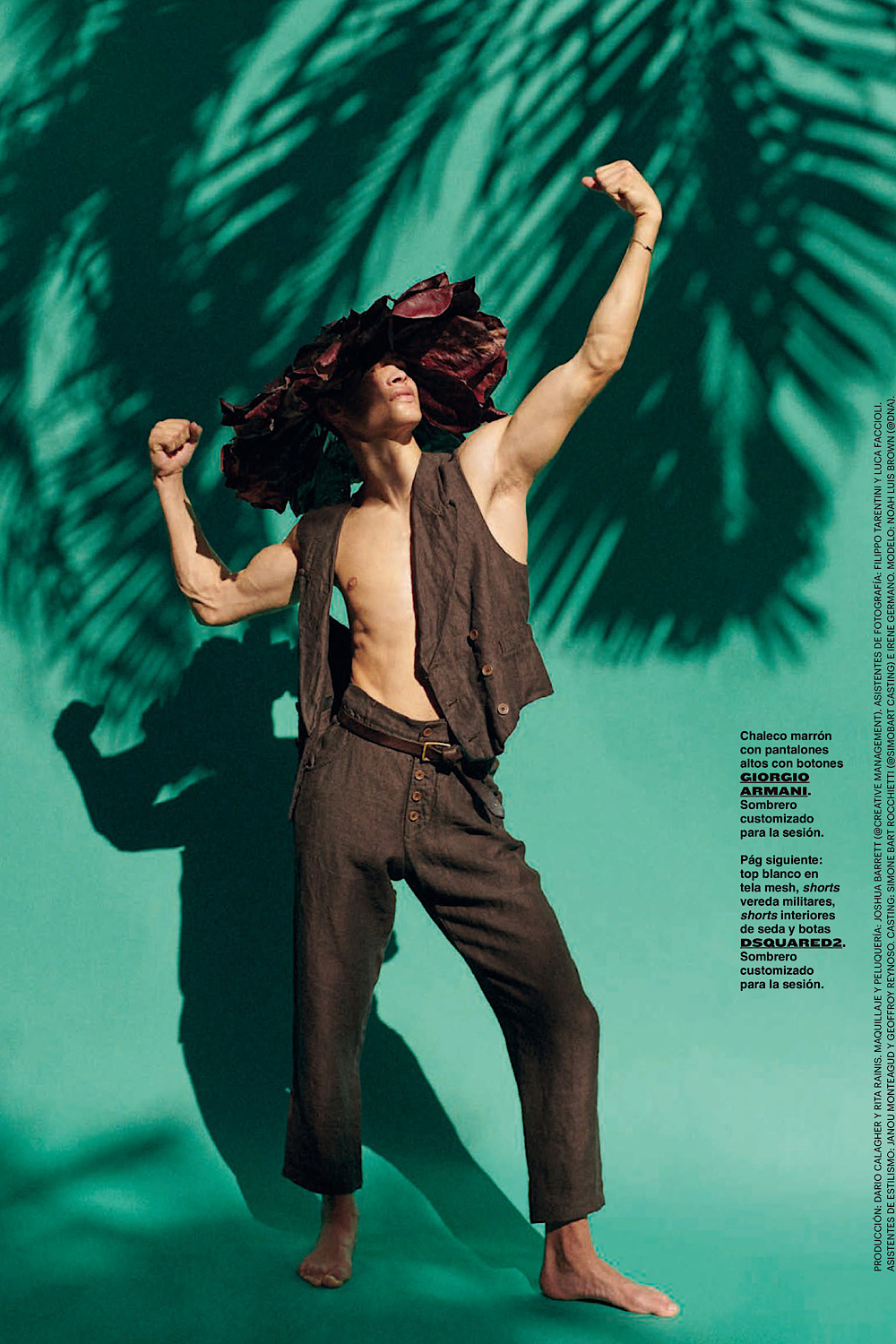 """""""The Nature is in Me"""" Noah Luis Brown by Giampaolo Sgura for GQ Spain March 2020"""