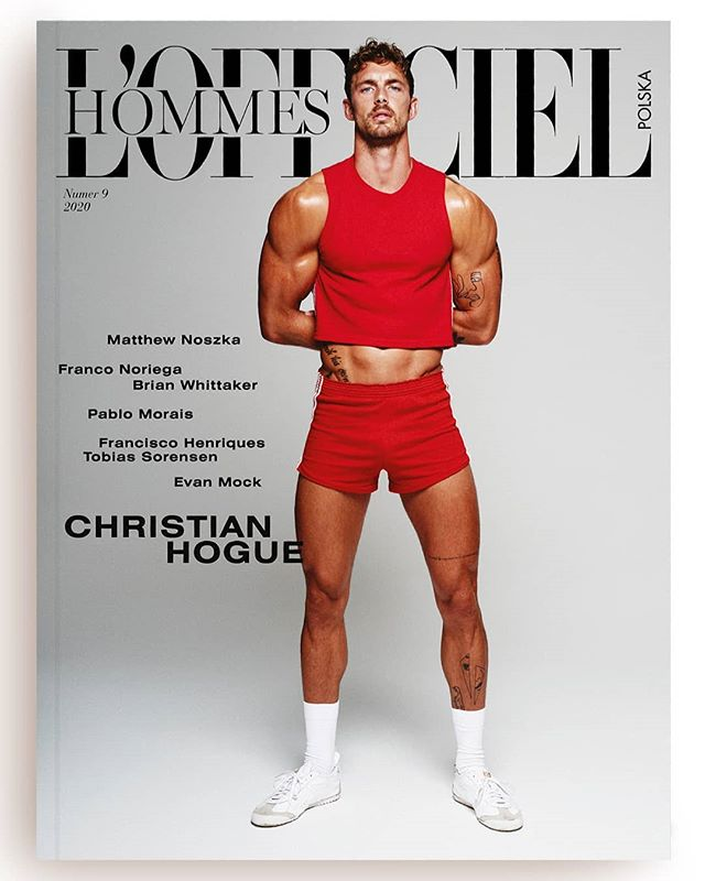 Christian Hogue by Kosmas Pavlos for L'Officiel Hommes Poland Spring 2020