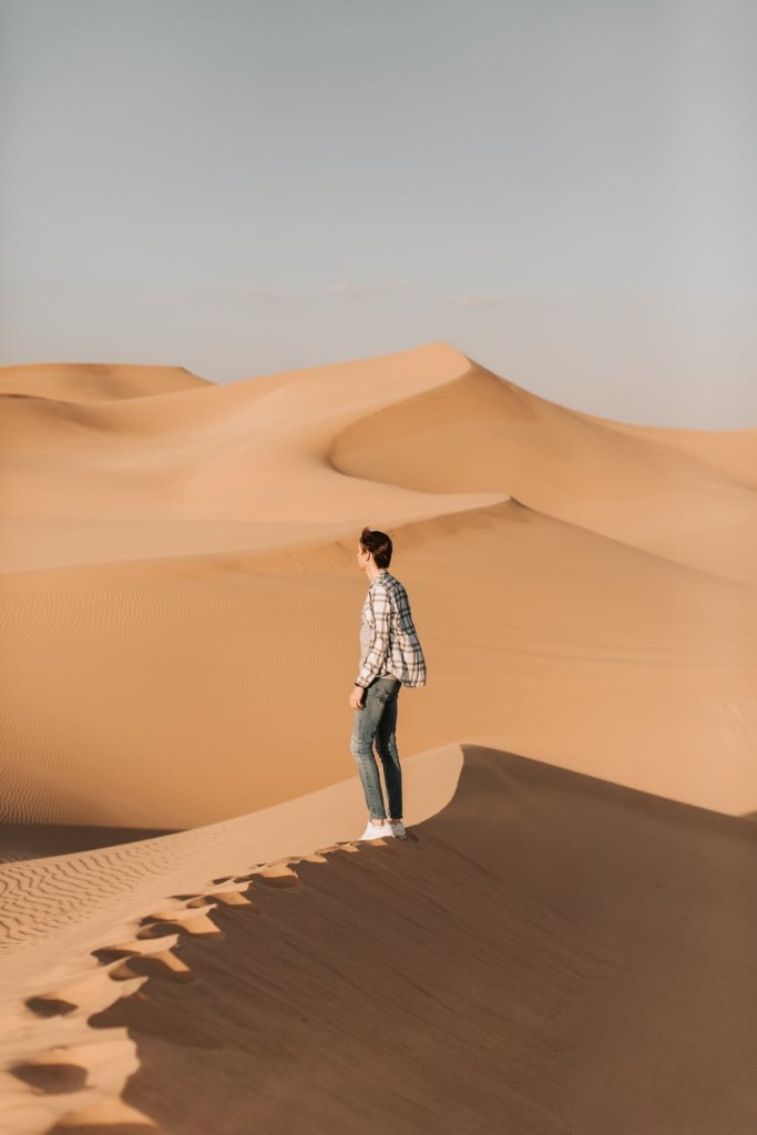 Man in a dune.