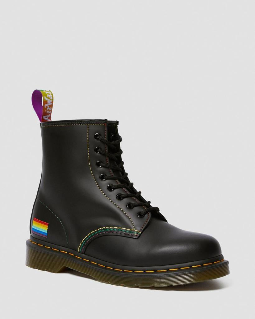 PRIDE SMOOTH LEATHER LACE UP BOOTS
