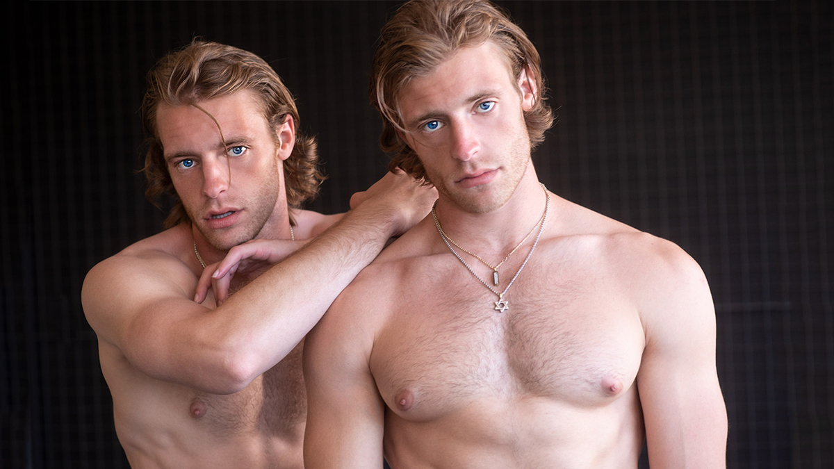 Twins Austin & Alec Proeh Pictures by Walter Tabayoyong for Fashionably Male cover