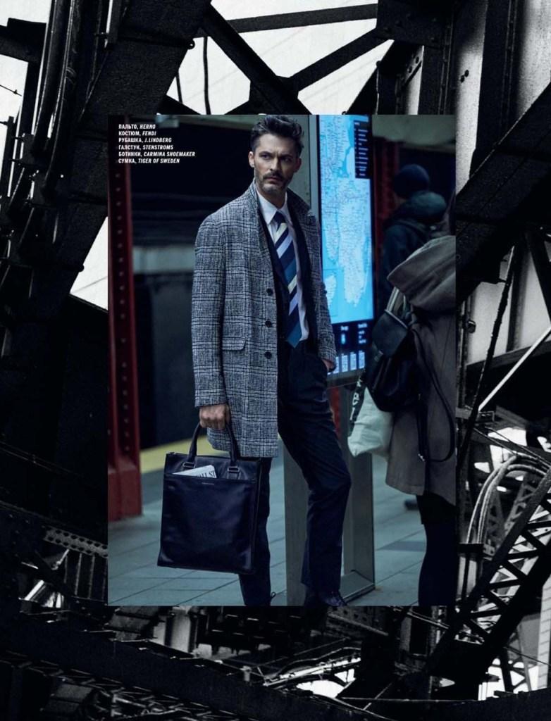 Model Ben Hill for L'Officiel Hommes Ukraine Summer 2020