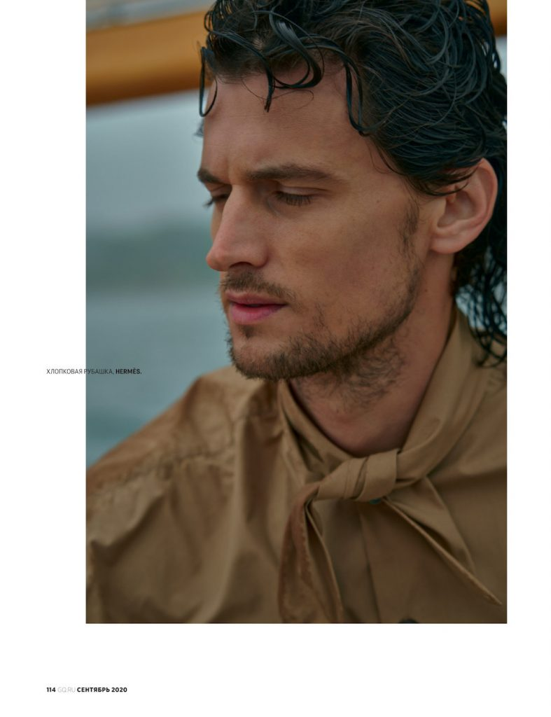 Top Model Garrett Neff for GQ Russia September 2020 shot by Dean Isidro.